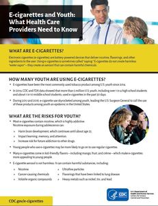 E-cigarettes and Youth: What Health Care Providers Need to Know: details >>