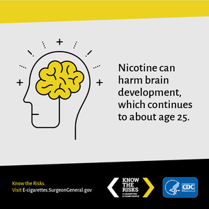 E-Cigarettes, Nicotine, and Brain Development Social Media: details >>